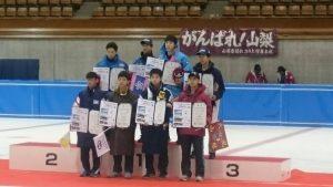 〈少年男子500m表彰式〉