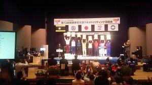 笠井 武広 成年男子  77㎏級スナッチ 1位 笠井 武宏 成年男子  77㎏級クリーン&ジャーク 1位