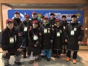 スキー競技会の開始式