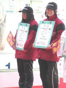 少年女子1000m 北原選手と宮嶋選手