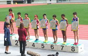 陸上競技 少年女子A 3000m表彰