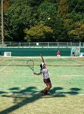 テニス競技 久米次選手