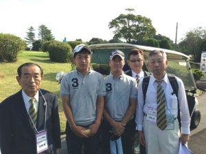 ゴルフ競技 成年男子と本部役員