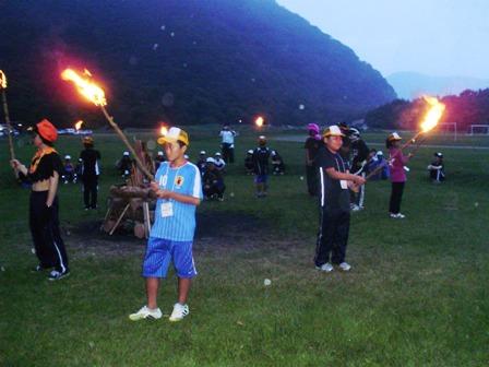 山梨県スポーツ少年大会in本栖湖の様子