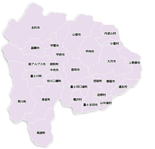 県内市町村地図(平成22年3月8日現在)